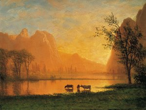 Sundown at Yosemite Kunstdruck auf Leinwand