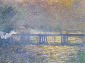 Charing Cross Bridge  Monet Leinwand