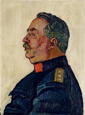Portrait of General Wille Leinwand auf Keilrahmen