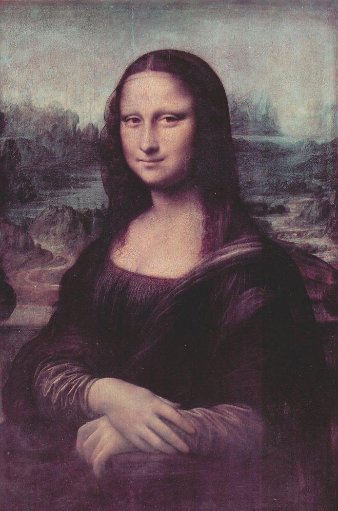 NEU! Mona Lisa Kunstdruck von Leonardo da Vinci auf Leinwand