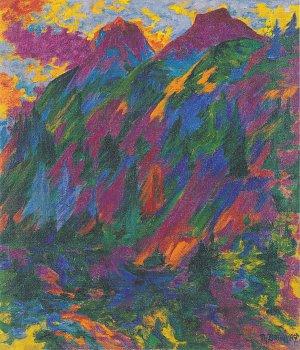 Abend Im Gebirge Gemälde Wandbild
